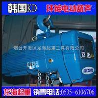 韩国KD环链电动葫芦,1000kg环链电动葫芦,保质1年